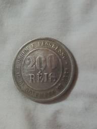 Moeda rara 200 Reis