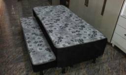 cama box com auxiliar novo da fábrica