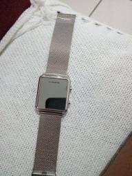 Relógio digital lince prata