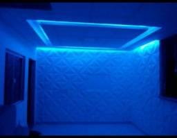 Drywall e plaquinhas 3D