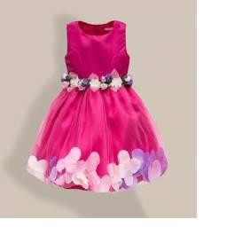 Vestido Festa Casamento Aniversário Infantil Tamanho 6 A 12