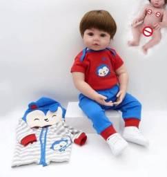 Bebê Reborn Menino 48cm Corpo Todo de Silicone