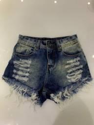 Short hot pants cintura alta