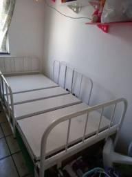 Cama Hospitalar Manual 2 Movimentos S/ Colchão