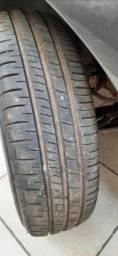 Rodas de ferro 13 com calotas 4 pneus novos