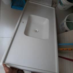 Pia branca 1,20cm