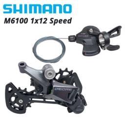 Relação Shimano Deore 1x12v M6100: passador + câmbio