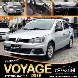 Título do anúncio: Volkswagen Voyage Trendline 1.6 2018 com GNV