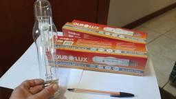 02 lâmpadas Ourolux vapor metálico 400W