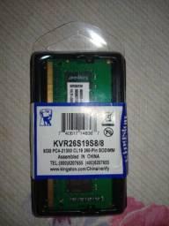 Memória RAM 8GB ddr4 Kingston
