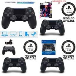 Controle Playstation 4 Sem Fio Dualshock black anti derrapante inteligente Controle