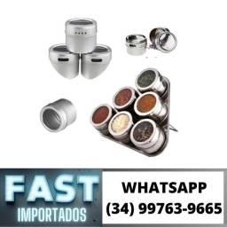 Kit 6 Porta Condimentos Magnético * Fazemos Entregas