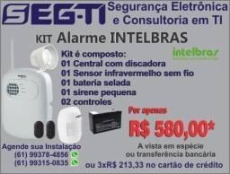 Kits alarmes de segurança, serve para comércio ou residência