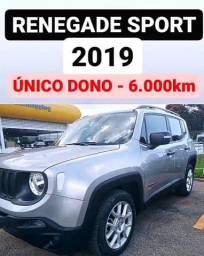 Renegade Sport Aut. - Único dono - 6.000Km