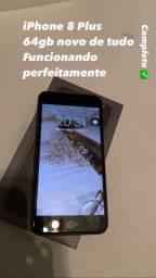 iPhone 8 Plus 64 completo!