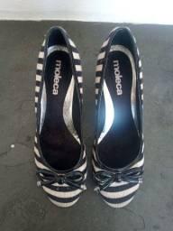 Sapato Moleca Camurça Listrado Nº36 - Impecável