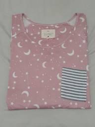 Conjunto de pijama, semi novo, tamanho GG