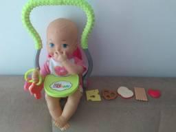 Boneca little mommy meu primeiro lanchinho