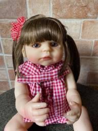 Linda boneca bebê Reborn toda em Silicone realista Nova Original (aceito cartão