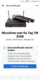 Microfone sem fio tag TM 559B