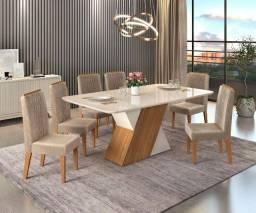 Mesa de Jantar 6 Cadeiras Rubi -- Entrega e montagem Na Hora