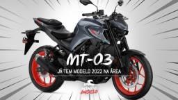 Mt 03 novas cores 2022 abs - aceito sua usada na troca - Consulte Prazo de Entrega