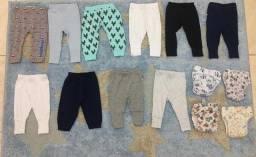 Lote com 14 peças de bebê masculino