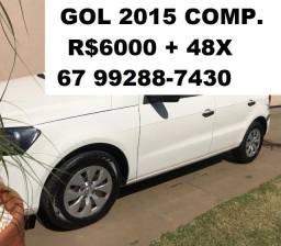 GOL 2015 Completo R$6.000 + 48x Fixas.