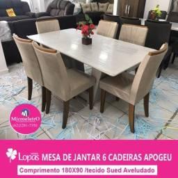 Mesa de Jantar 6 Cadeiras Apogeu Medida 180X90