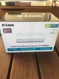 Switch 8 portas 10/100 D-Link