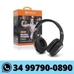 Fone de Ouvido Bluetooth Hrebos Sd Rádio Fm P2