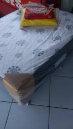 Cama box casal de molas ortobom nova por 490,00