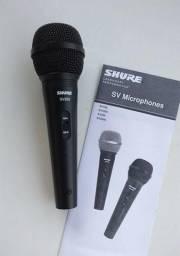 Microfone Shure Multifuncional Com Fio SV200 Preto