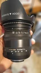 Vendo lente sigma para nikon18 50mm 2.8 abertura