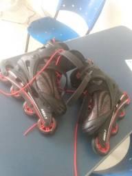Vendo patins da marca oxer  usada uma vez aoena