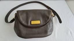 Bolsa de couro cinza Marc Jacobs