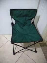 Cadeira Dobrável Camping Pesca verde