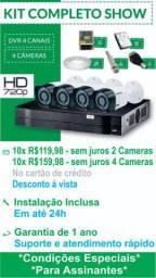 Kit 4 Cameras Completo Instalado 1 ano garantia