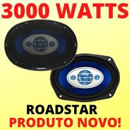 Par 6X9 Roadstar 3000 Watts Potente Alto Falante Pesado Novo Com Telas Super Barato!