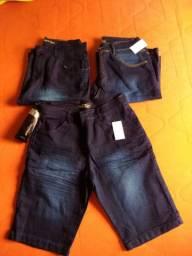 Bermuda jeans  e calças jeans