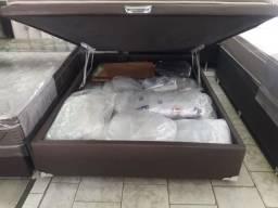 Cama Box Bau Casal 138x188 A Pronta Entrega