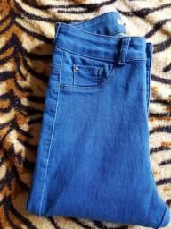 Calça jeans  skinny com cintura alta. (  tamanho: 35)
