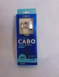Cabo Usb Magnético Micro Usb iPhone Type C 2.4a Inova