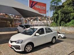 Etios Sedan 2018 1.5 X Automatico Unico Dono Branco Emplacado