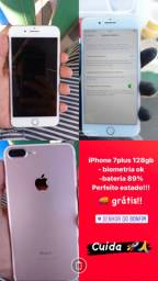 IPhone 7plus rose 128gb impecável!!