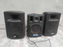 Jogo caixas de som amplificada