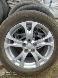 Rodas 18 5 Furos com pneu ( barato ) pra sair rápido