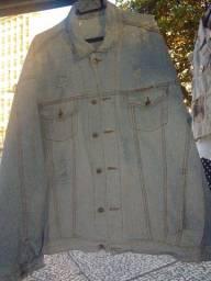 Jaqueta retro clara tamanho G