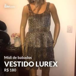 Vestido babado lurex