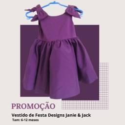Imperdível! Promoção Vestido de festa para bebê. Novo. Marca: Janie & Jack. 6-12 meses